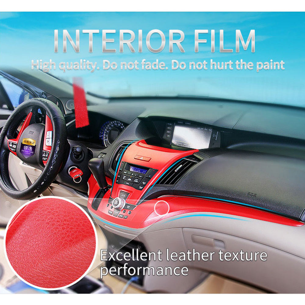 Leather Pattern Adhesive PVC Vinyl Film Sticker Auto Car Internal Decor
