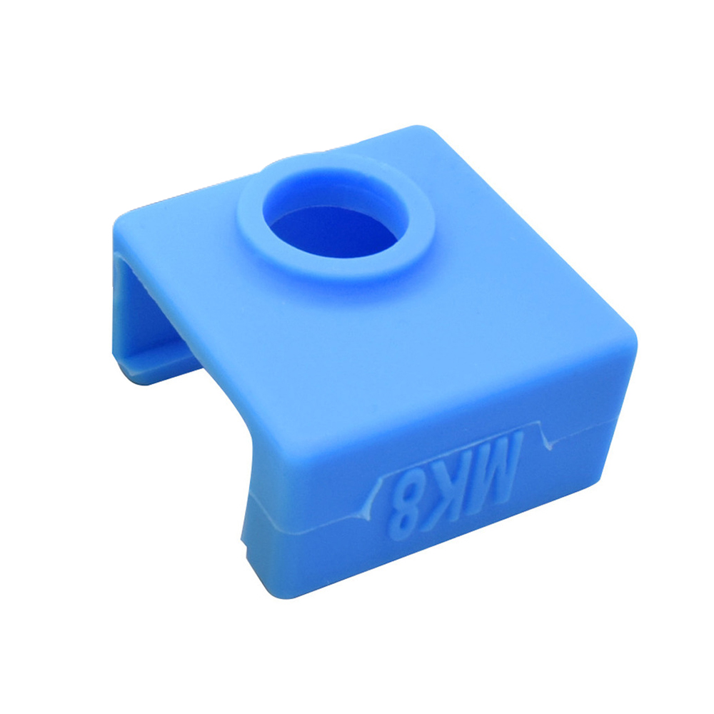 Wholesale 3D Printer Silicone Sock Heater Block Cover MK7 MK8 Hotend Protect Blue