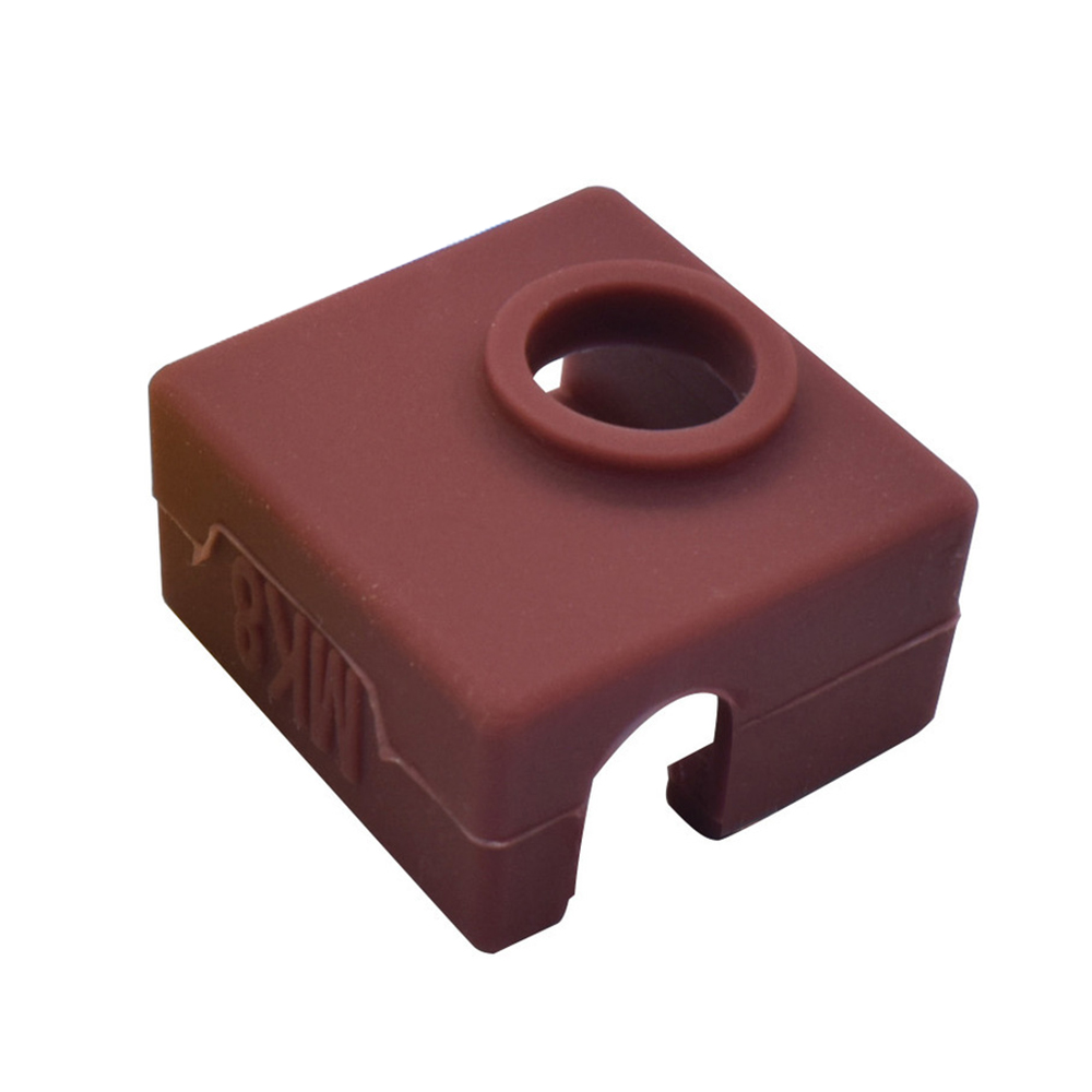Wholesale 3D Printer Silicone Sock Heater Block Cover MK7 MK8 Hotend Protect Brown