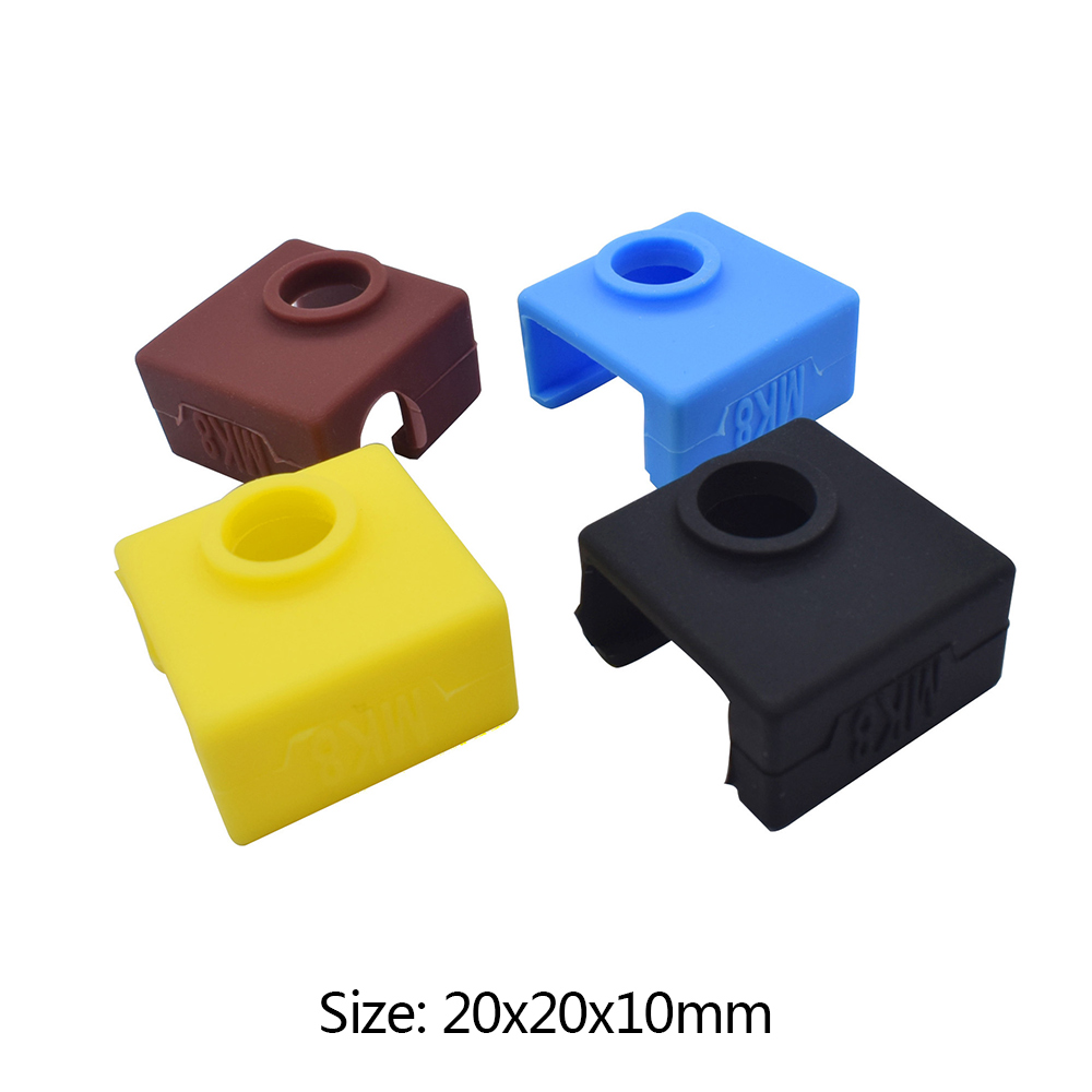 3D Printer Silicone Sock Heater Block Cover MK7 MK8 Hotend Heater Protect