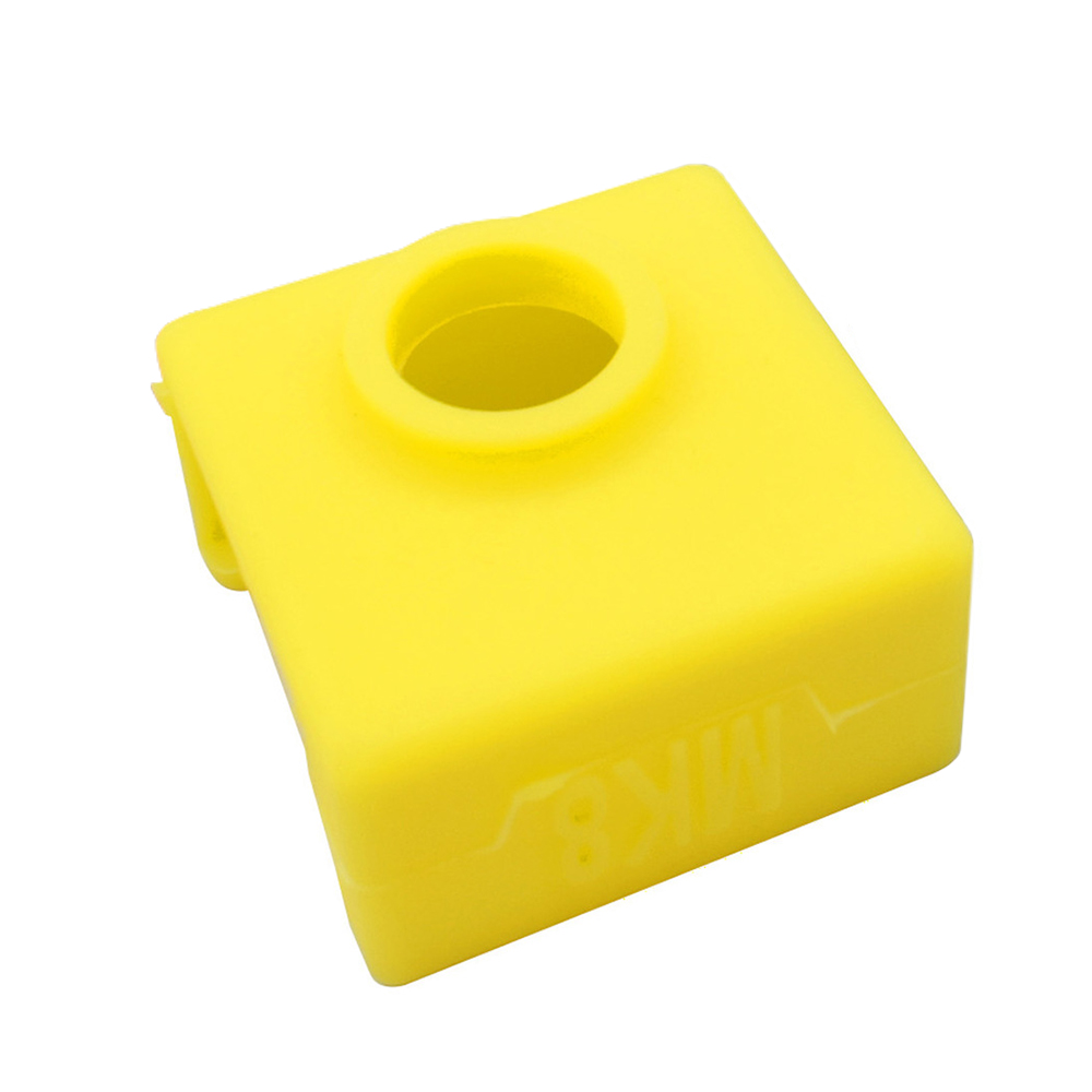Wholesale 3D Printer Silicone Sock Heater Block Cover MK7 MK8 Hotend Protect Yellow