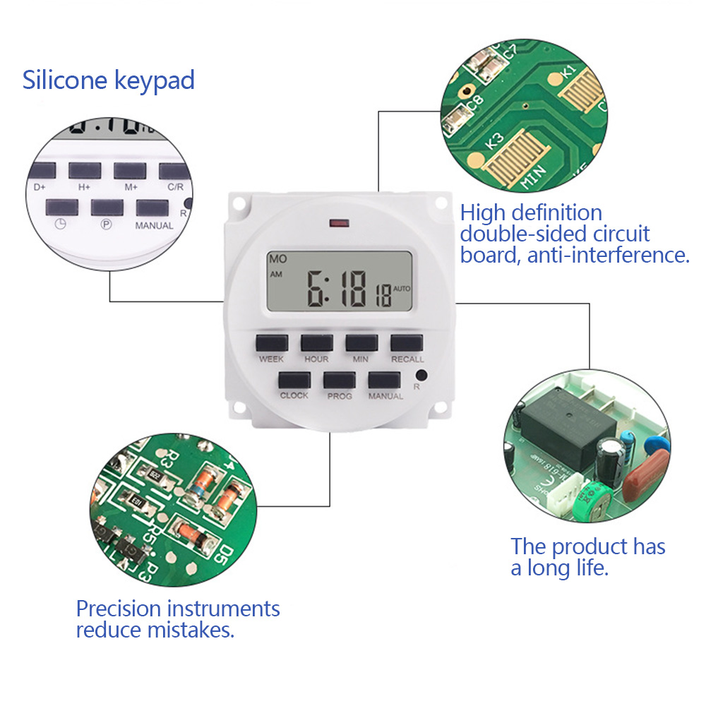 Wholesale 7 Day HeavyDuty Digital Programmable Timer LCD Power Time ControlSwitch 24V