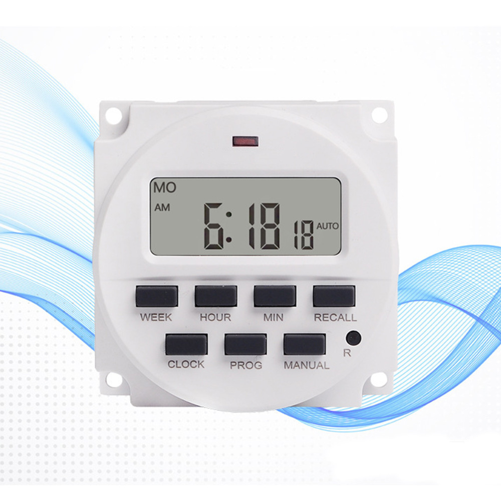 Wholesale 7 Day HeavyDuty Digital Programmable Timer LCDPower Time ControlSwitch 220V