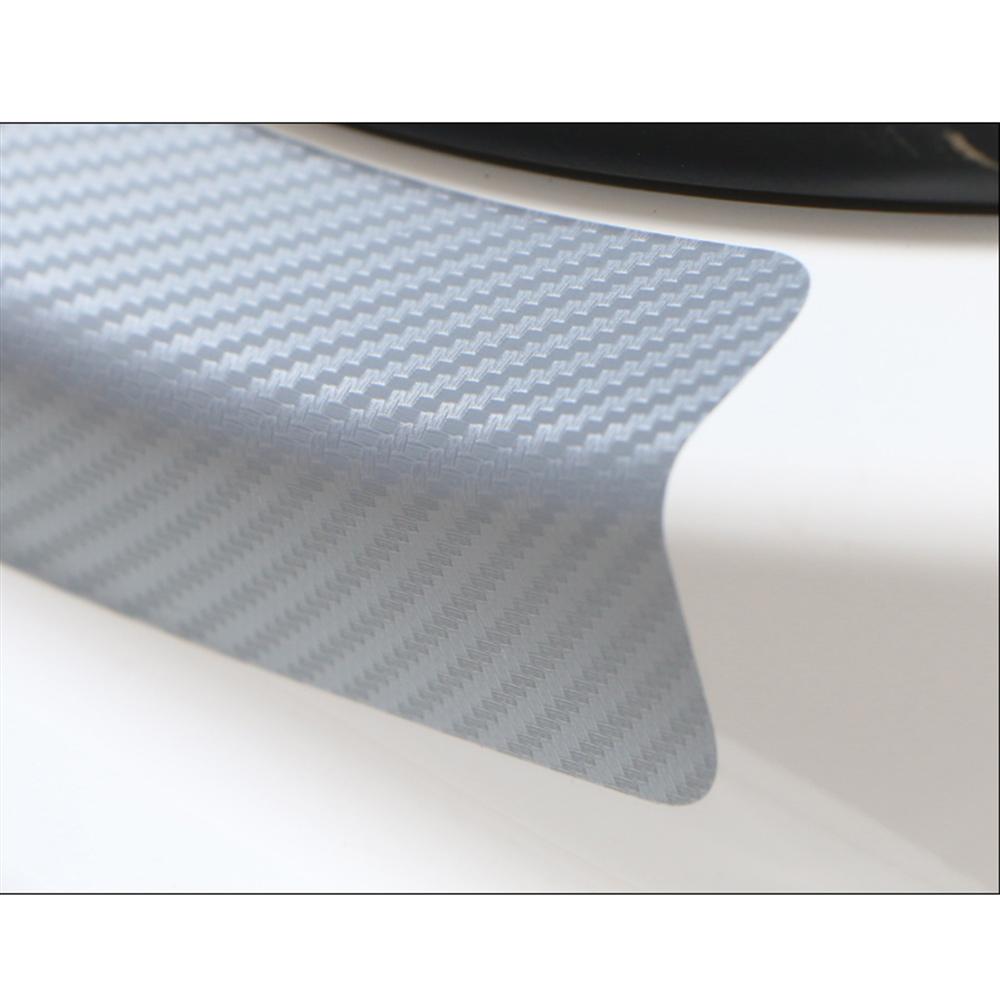 Door Sill Protector 3D Carbon Fiber Car Doors Guard Bumper Protection
