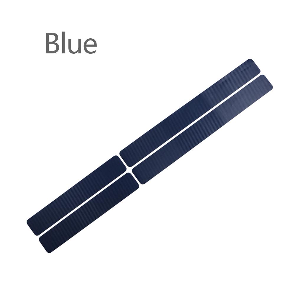 Wholesale Door Sill Protector 3D Carbon Fiber Car Doors Guard Bumper Protection Blue