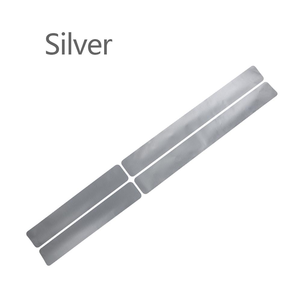 Wholesale Door Sill Protector 3D Carbon Fiber Car Doors Guard BumperProtection Silver