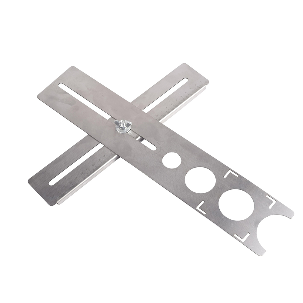 Stainless Steel Ceramic Tile Hole Locator Floor Drilling Guide Finder Gauge