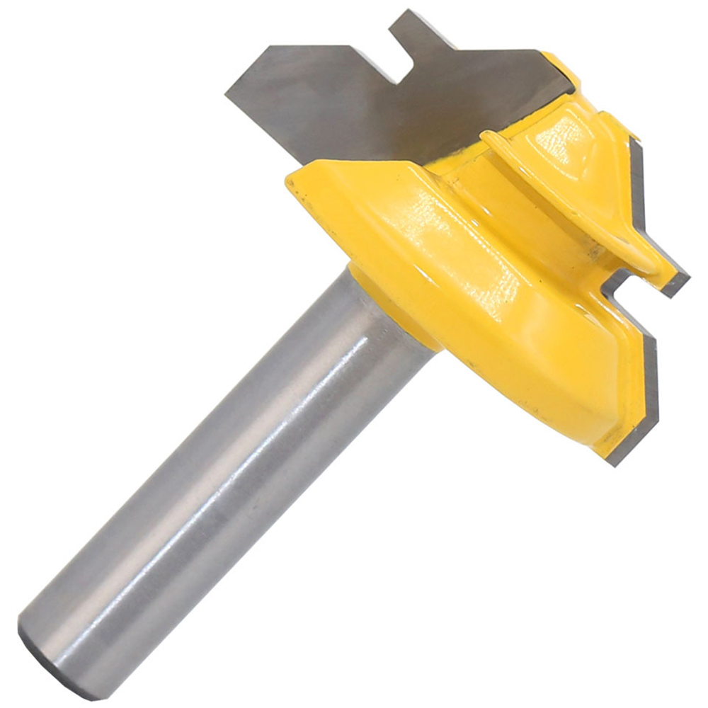 45Degree 1/2in Stock Router Bit Lock Miter Woodwork Cutter Tool 8mm Shank