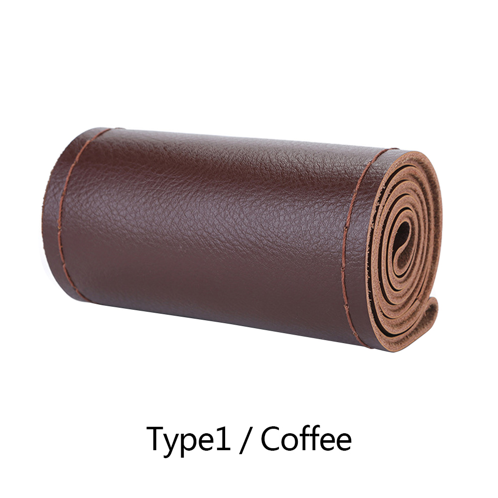 Wholesale Cow Leather SteeringWheel CoverSoft Anti-slip SafetyProtector Coffee Type 1