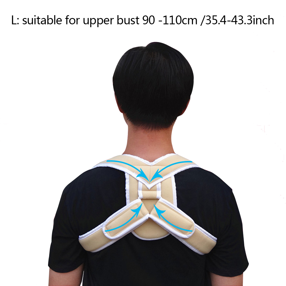 Posture Corrector Clavicle Back Support Brace Adjustable Elastic Belt Strap