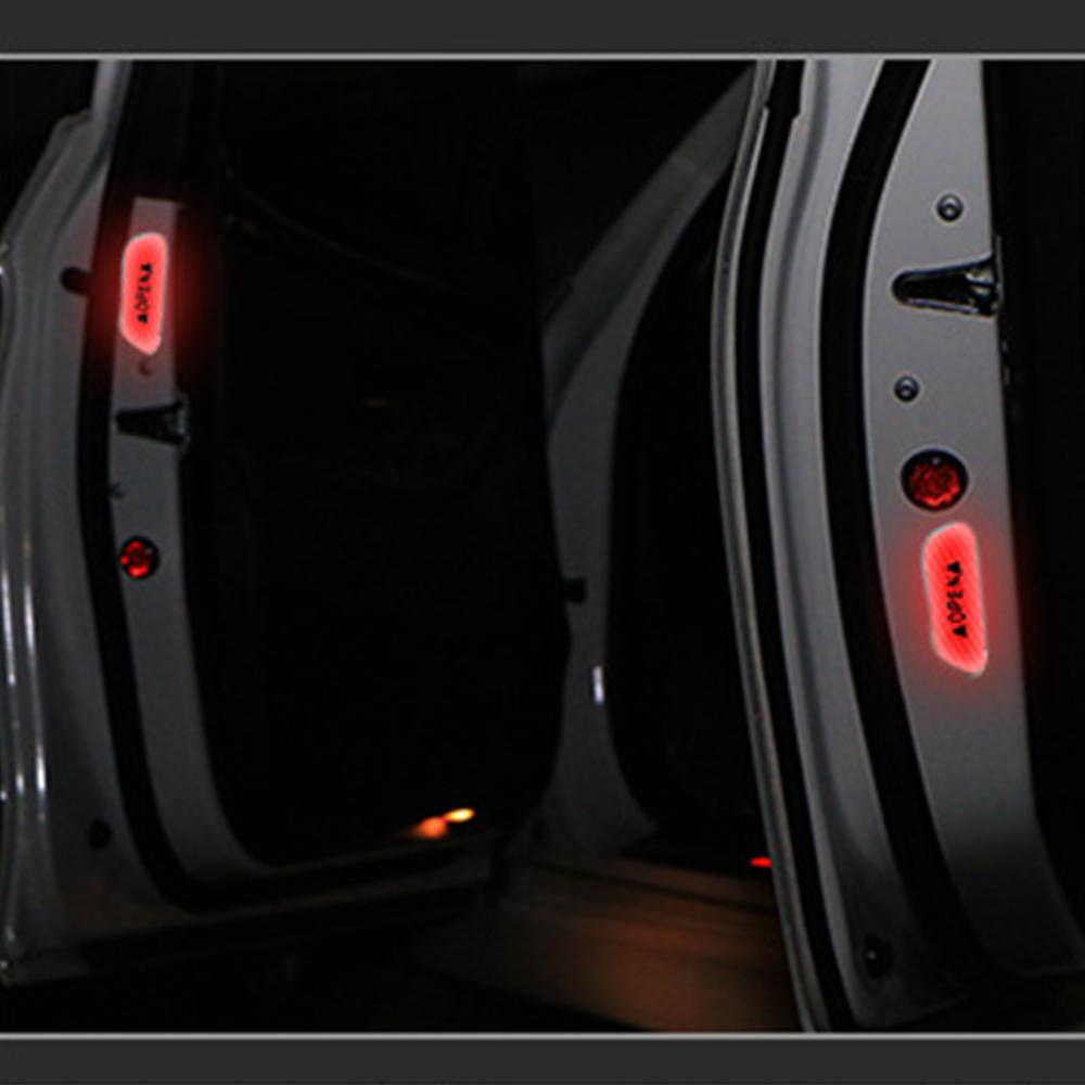4Pcs/Set Warning Mark Reflective Tape Universal Exterior Accessory Car Door