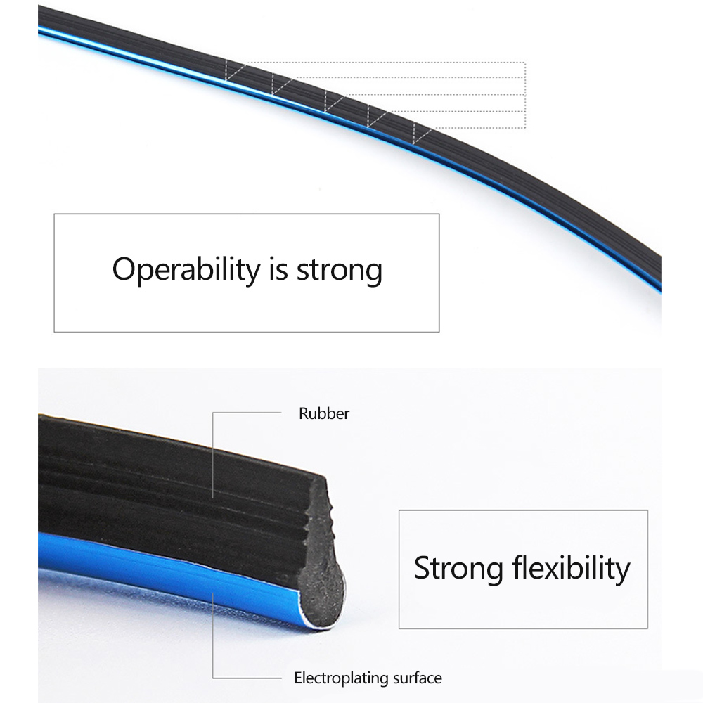 Car Interior Trim Moulding Strips Gap Filler Flexible Edge Guard Line Decor