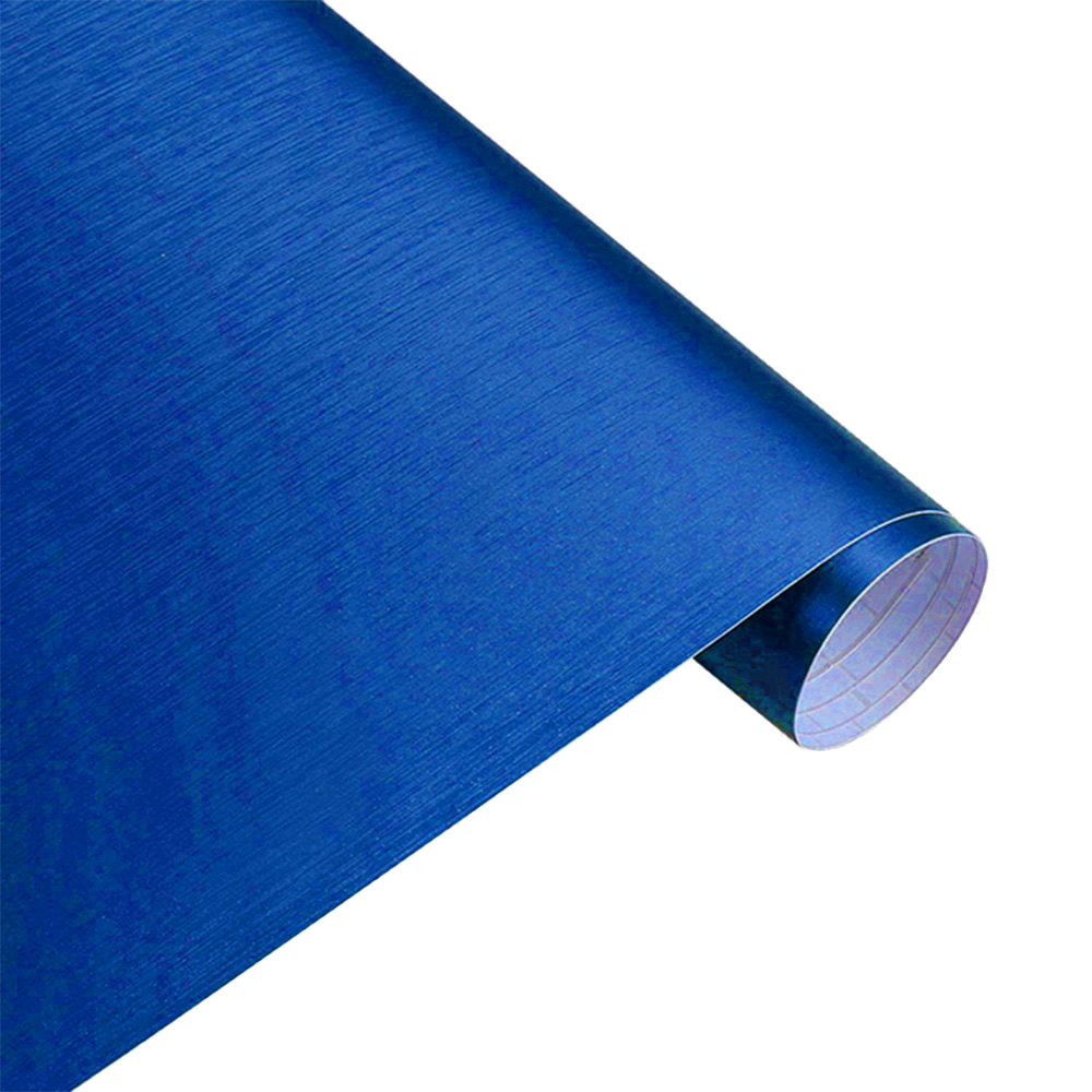 Wholesale Matt Brushed Car Wrap Vinyl Film Sheet Bubble FreeAir Motorcycle Decal Blue