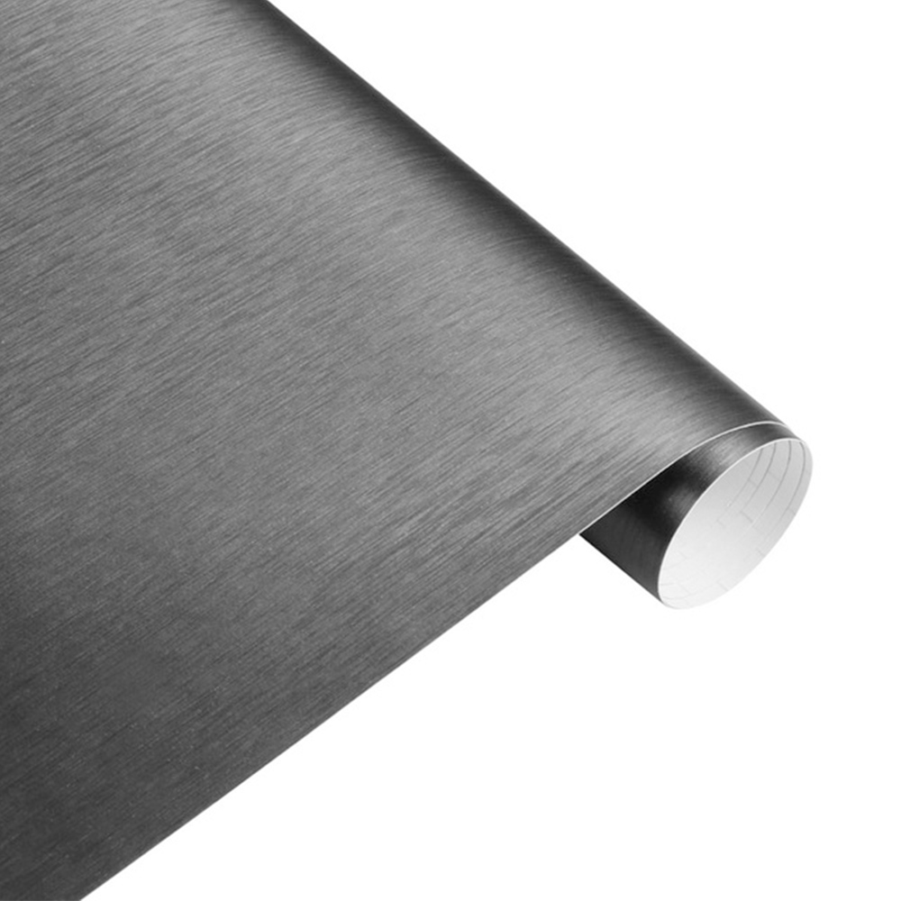 Wholesale Matt Brushed Car Wrap Vinyl Film Sheet Bubble Free Air Decal Dark Gray
