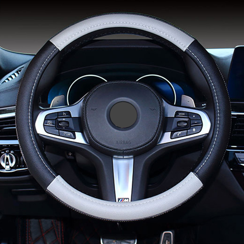 Microfiber Leather Steering Wheel Cover Patch Anti-slip Safety Protector Fine
